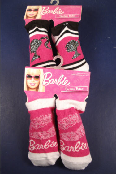 Licensed BARBIE Baby Booties Size 0-6