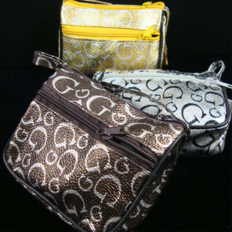 3'' X 4''  Mini Metalic G Print HANDBAG w/ Handle  Asst Colors .56 ea