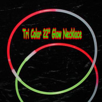 22''  Tri  Color GLOW Necklaces 50 pcs per unit